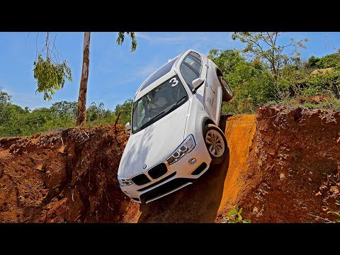 BMW X5 and X3 70 degree near-vertical drop | xDrive Off-road Experience Bangalore