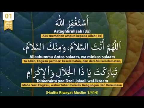 Meluruskan Bacaan Dzikir/doa Setelah Sholat Fardhu Sesuai Sunnah Rasulullah