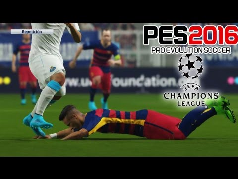 UEFA Champions League - PES 2016 - FC Barcelona Vs FC Porto