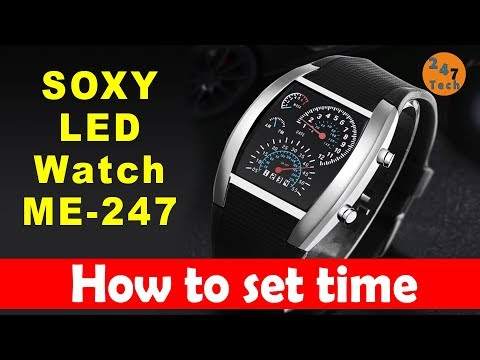 How To Set Time Soxy Fashion Men's Watch Unique LED Digital Watch Men Watch Electronic