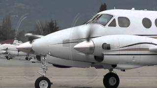 Beechcraft King Air C90 Start-Up and Take-Off at Watsonville