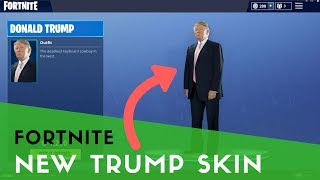 New Donald Trump Fortnite Skin!!