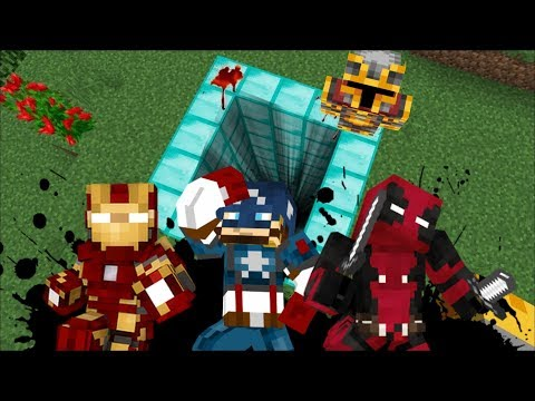 DON'T FALL INSIDE THIS SUPERHERO DIAMOND PIT!! DANGEROUS MONSTERS INSIDE!! Minecraft Mods