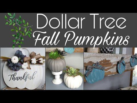 Dollar Tree Fall Pumpkin DIYs