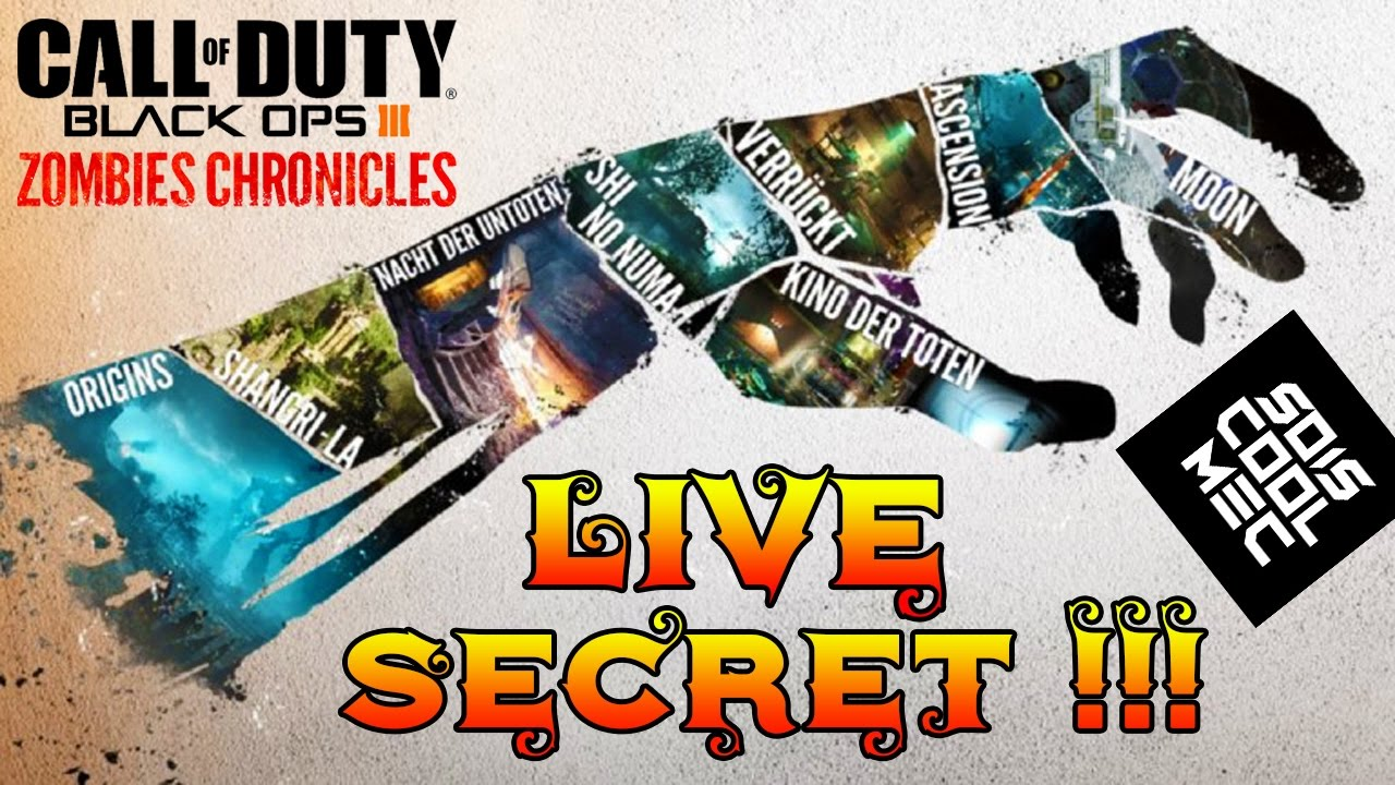 Secret Ascension Debut Dlc5 Zombie Chronicles Black Ops 3 D Go 19K