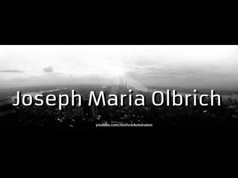How To Pronounce Joseph Maria Olbrich In German