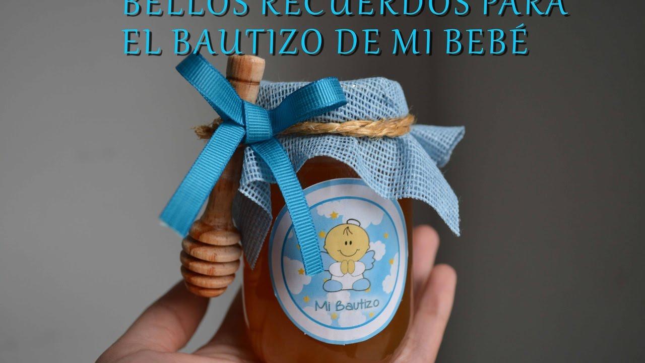 Recuerdos Para Bautizo Con Foto Del Bebe.Recuerdo De Miel Para Bautizo