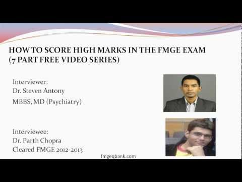 1) How to Score High Marks in FMGE (MCI Screening Test) Interview Series