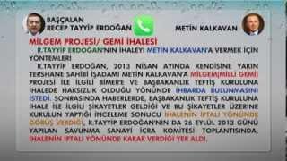 Repeat youtube video BAŞÇALAN Erdoğan'ın Skandal Milli Gemi Yolsuzluğu Kaydı
