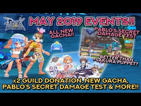 MAY 2019 EVENTS: NEW GACHA, DAMAGE TEST, X2 DONATION, & MORE