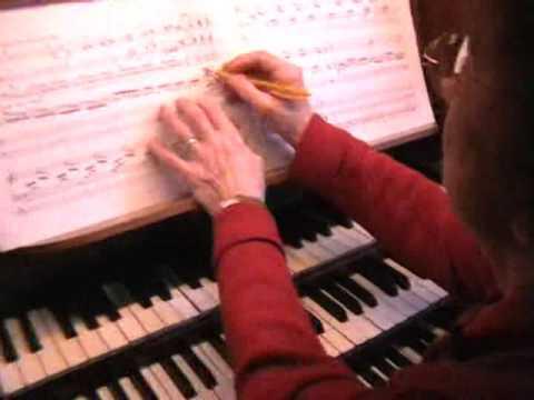 Marie-Claire Alain - Organ lesson - part two