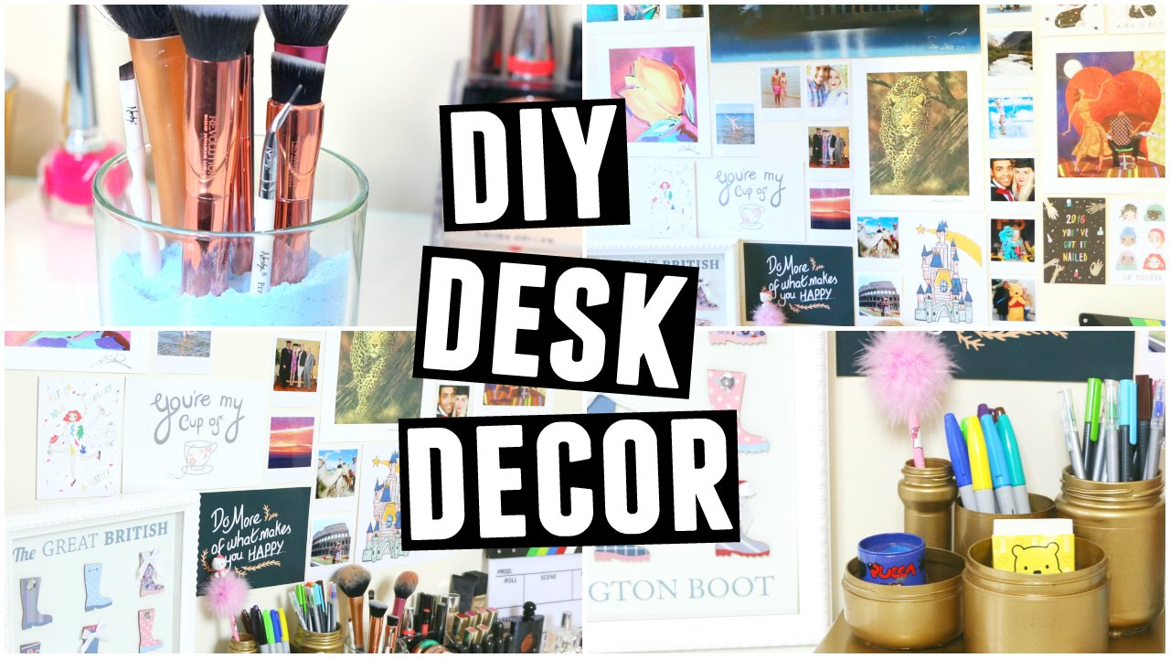 Diy Desk Decor Organisation Easy Quick Affordable