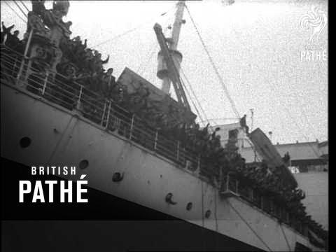 Paratroops At Southampton 1947