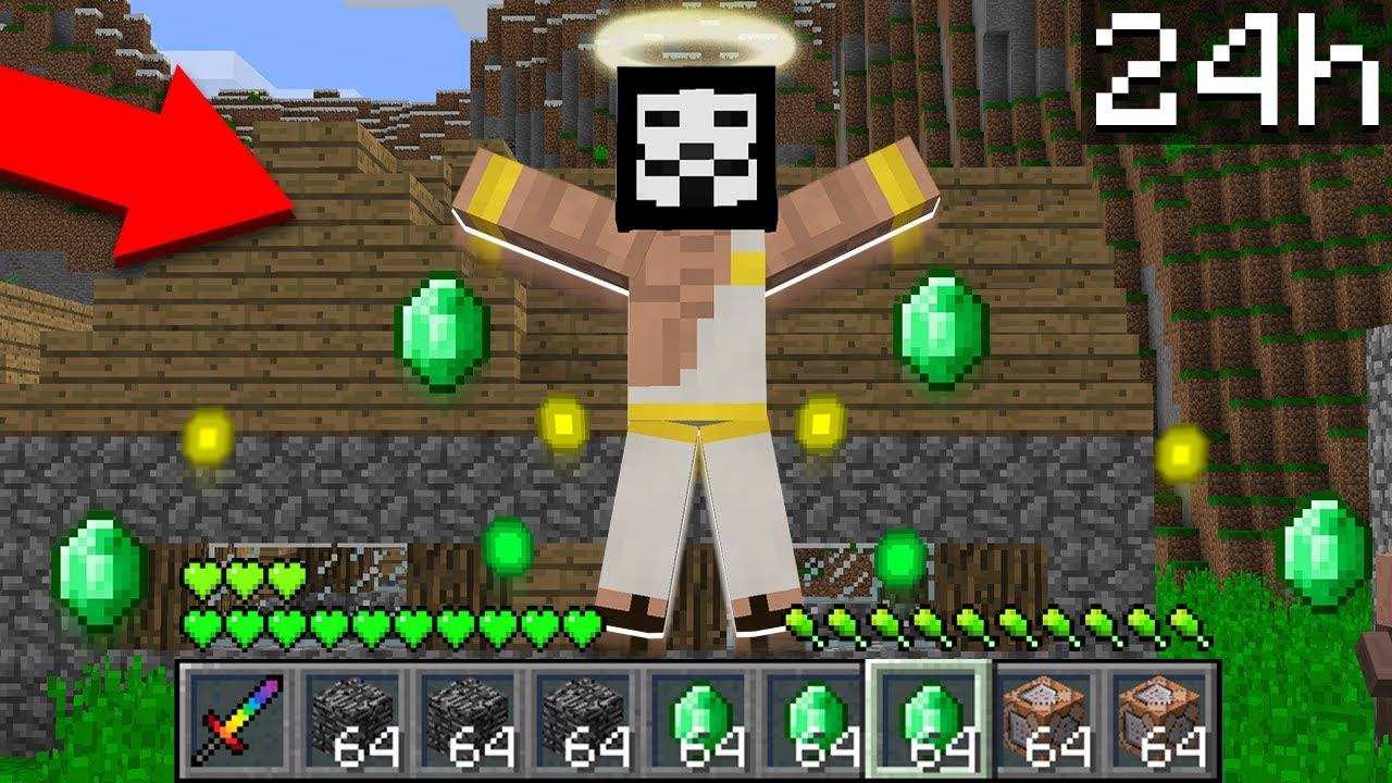 HACKER BECAME a GOD for 24 HOURS in Minecraft! Noob vs Pro