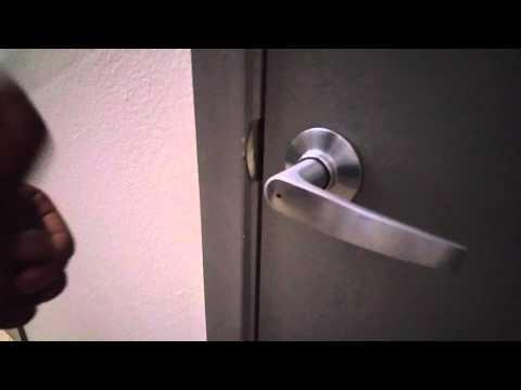 How to unlock locked bathroom door - Pen Refill - YouTube