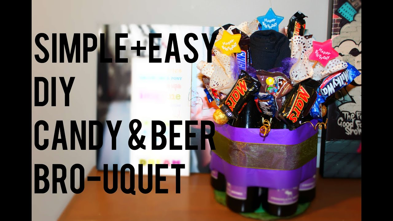 Fathers day DIY candy+beer bouquet. Simple+easy. - YouTube