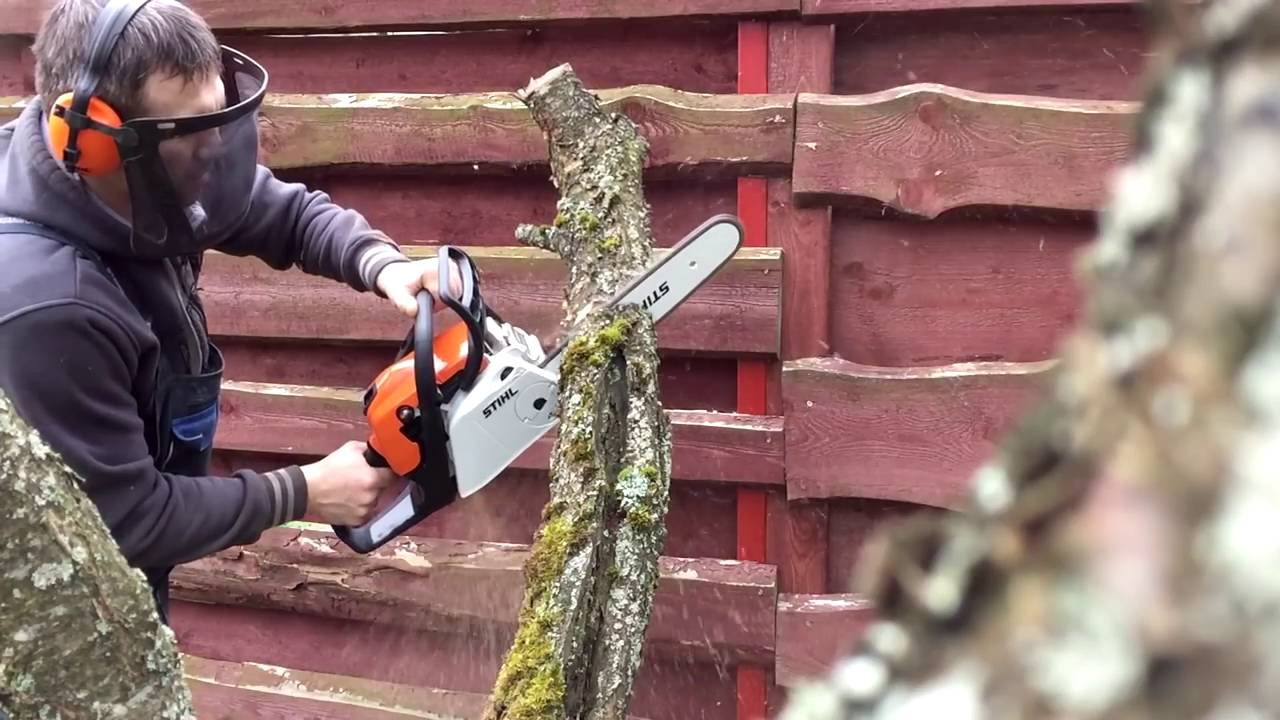 stihl ms 211 c be Распил - youtube