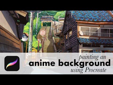 Anime Background In Procreate