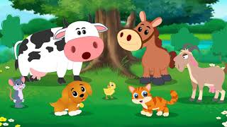 Hello Animals! Animal Sounds Song for Kids