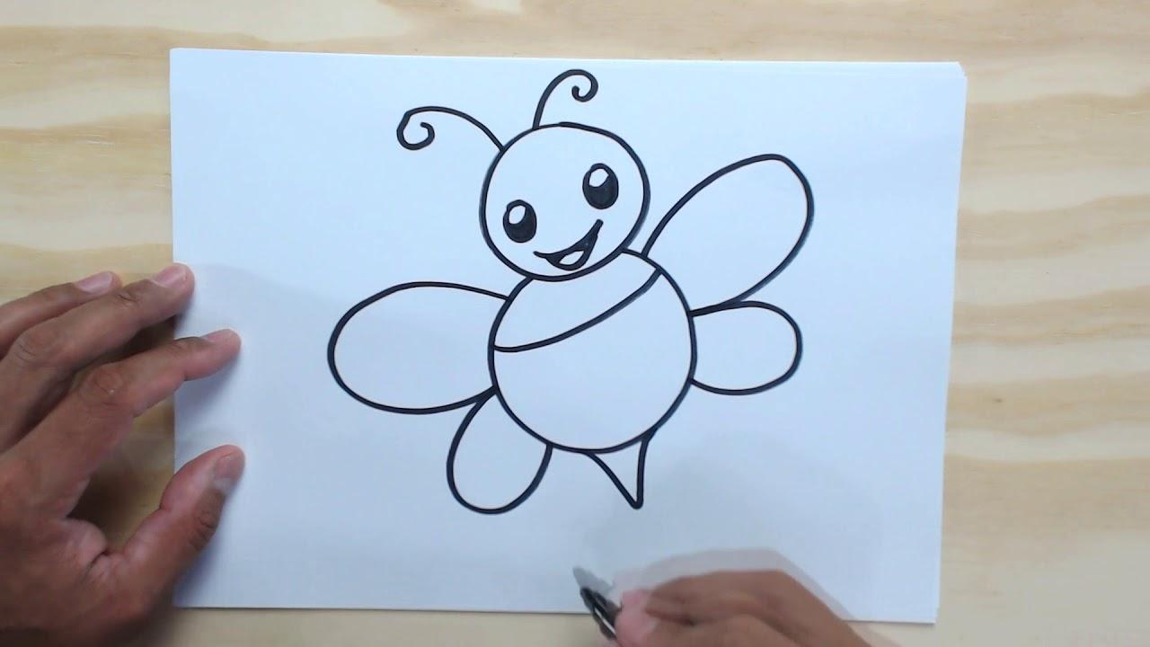 Como Desenhar Uma Abelha Bem Fácil Desenhos Fáceis Para Crianças