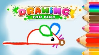 Drawing the Rat - How To Draw A Rat Easy for Kids