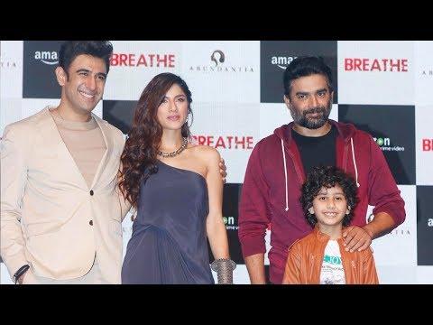 R. Madhavan, Amit Sadh, Sapna Pabbi At Trailer Launch Of Amazon Prime Original's Breathe