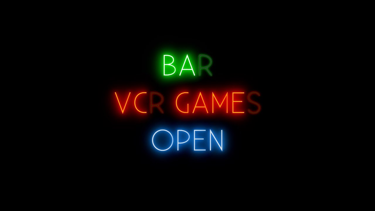 CSS3 Neon Bar Signs | Night Lighting Animation