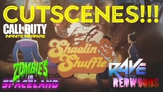 INFINITE WARFARE ZOMBIES | ALL CUTSCENES! (ZOMBIES IN SPACELAND, RAVE IN REDWOODS & SHAOLIN SHUFFLE)
