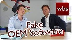 Manche Onlineshops bieten Fake OEM-Software an | Vorsicht beim Weiterverkauf! | Kanzlei WBS