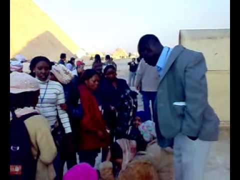 students of juba university visited the pyramid  of giza Egypt