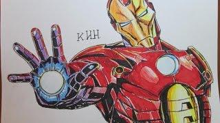 how to draw iron man! как нарисовать Железный человек !(channel Иван КИН https://www.youtube.com/channel/UCGXvX84DS7DajxO4aWabFpA заходите на мой сайт и смотрите новые видео и рисунки! visit..., 2014-12-01T18:06:43.000Z)