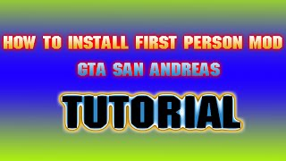 GTA San Andreas - How to install First Person mod!