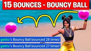 Get 15 Bounces in a Single Throw with the Bouncy Ball Toy - WEEK 5 CHALLENGES FORTNITE SEASON 8