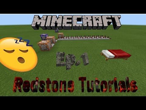 Redstone Tutorials | Mc Bedrock | One Person Sleeping System