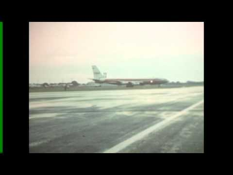 TWA Flight 30 Boeing 707 Take off from OSU Airport