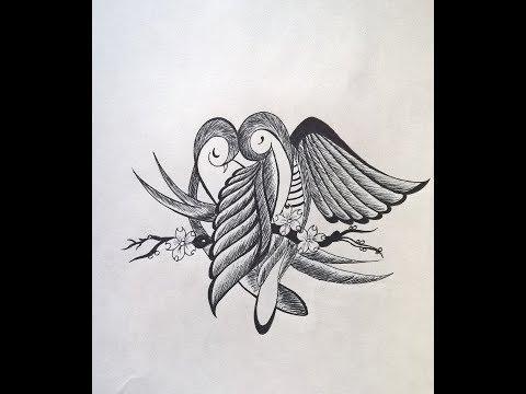 how to draw love birds   Love Birds   NCS