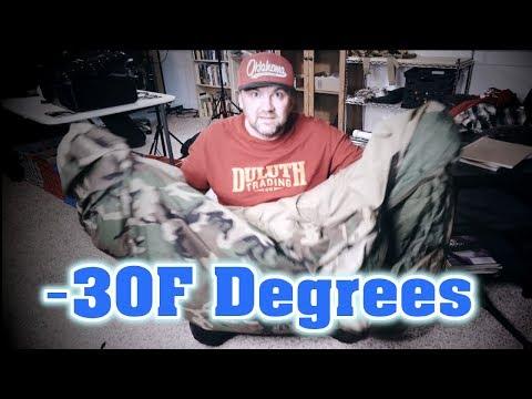 Best Winter Sleeping Bag!!!  --30 Degrees ~ Military ECWS Sleep System