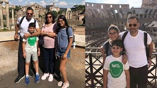 Karisma Kapoor kids holidaying with their dad and her ex hubby in Rome