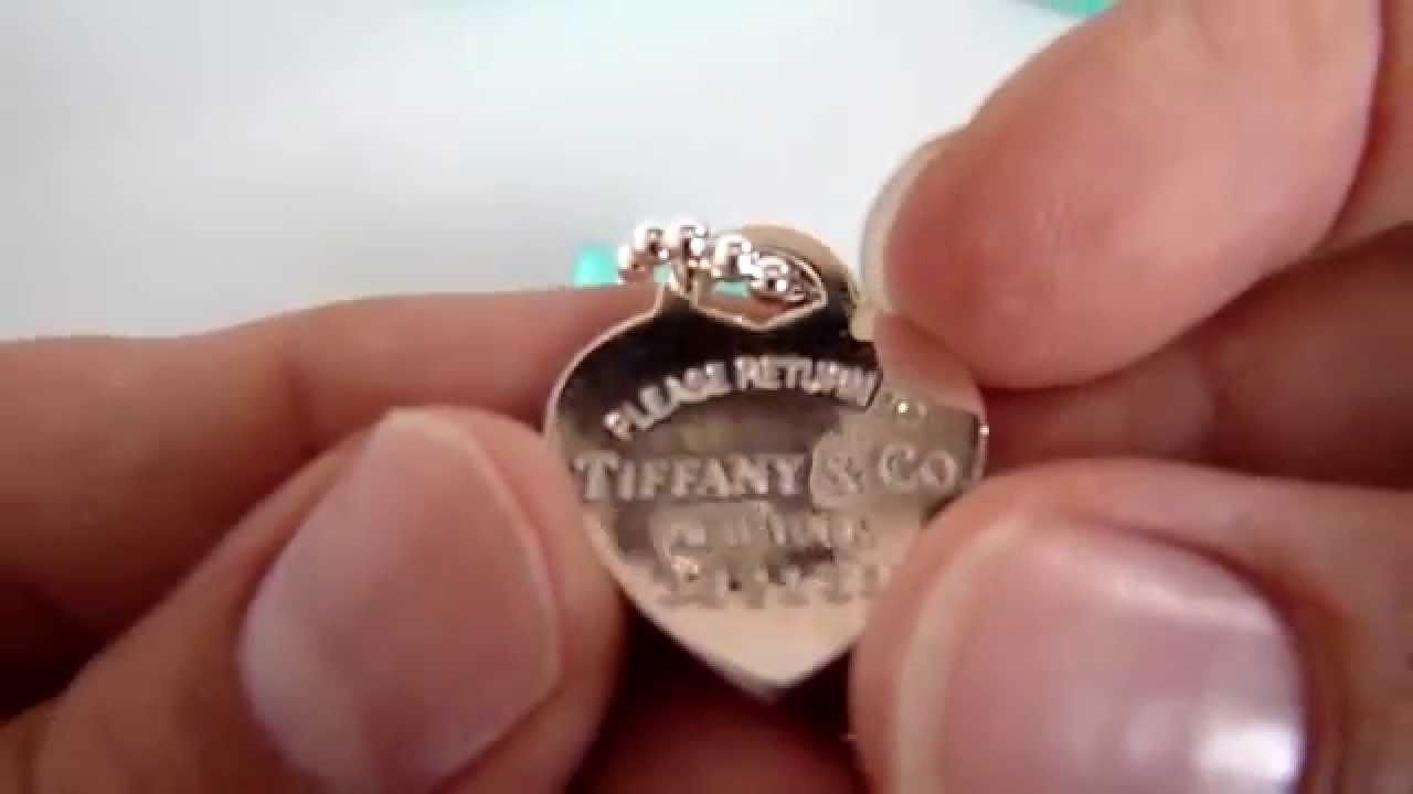898b9eeca020 (A LA VENTA) Dije Tiffany Auténtico Con Cadena De Plata G925.nuevo. -  YouTube
