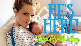 HE'S HERE! || Live Emotional Birth Vlog || 9.21.16