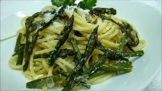 Спаржа Лучший Рецепт. Спагетти из Спаржой Итальянский Рецепт #спаржарецепт