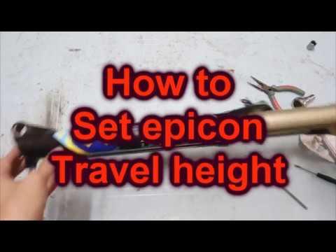 [ Toysfun Cycling ] how to set modify suntour epicon epixon fork travel height mtb bicycle