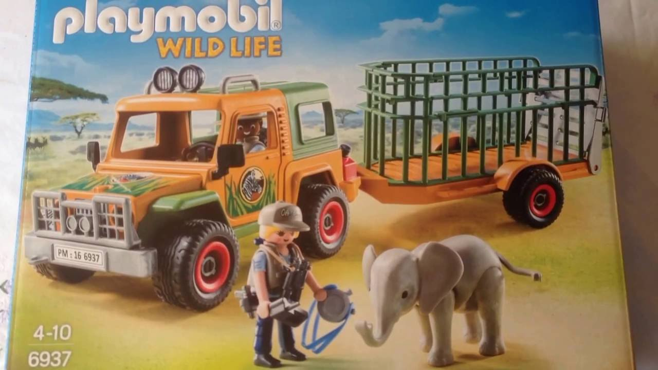 playmobil wildlife 6937 jeep part 1 youtube. Black Bedroom Furniture Sets. Home Design Ideas
