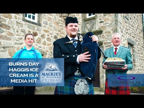 Burns' Day Haggis Ice Cream is a Media Hit | Holyrood PR TV: Episode #210 PT3