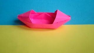оригами кораблик (каное),origami boat (canoe),оригами лодка,(оригами из бумаги кораблик, оригами лодка из бумаги,оригами каное, оригами своими руками кораблик, бумажный..., 2014-09-27T09:42:20.000Z)