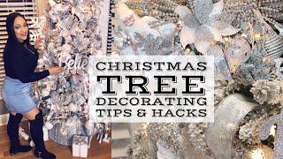 GLAM CHRISTMAS TREE DECORATING TIPS & HACKS 2018 | DIY BLING RIBBON