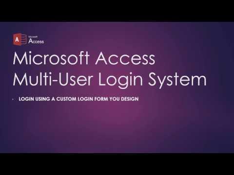Microsoft Access Multiple Users Login System    Walkthrough Full Free