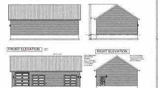 PDF Barn Plans - #g458 30x50x12 Workshop