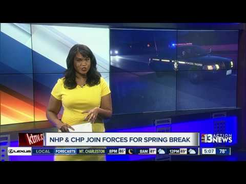 Nevada, California highway patrols joining forces in Primm for spring break