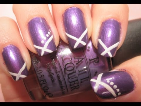 - Tutorial: Simple Purple And White Nail Design - YouTube
